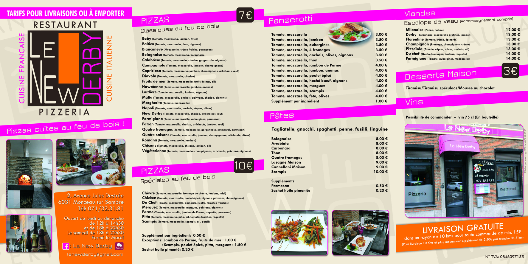 Restaurant LE NEW DERBY-tarif pour web